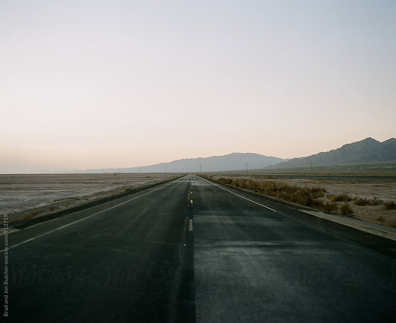 Empty Desert Road by Brad and Jen Butcher for Stocksy United