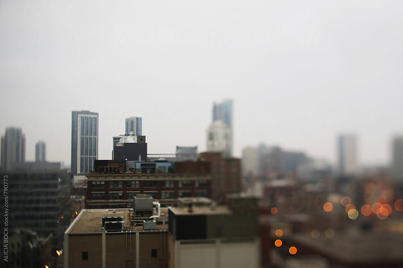 City Lights Of Chicago On A Gray Day by ALICIA BOCK for Stocksy United
