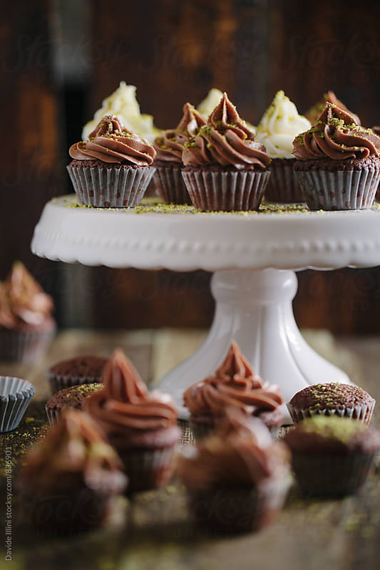 Chocolate cupcake by Davide Illini for Stocksy United