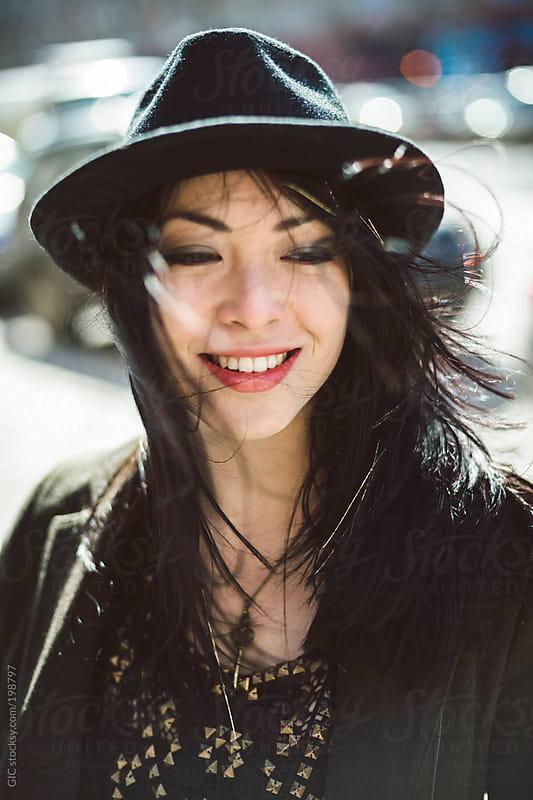 Happy smiling asian girl portrait by GIC for Stocksy United
