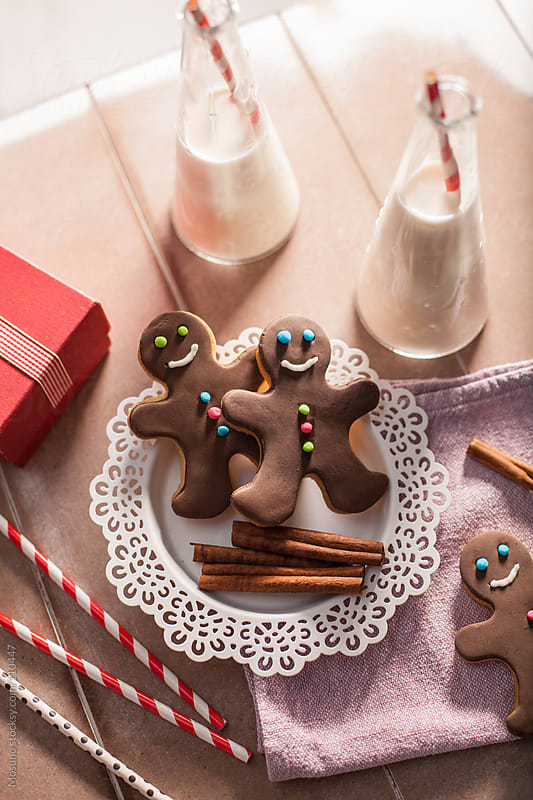 Christmas Cookies and Milk by Mosuno for Stocksy United
