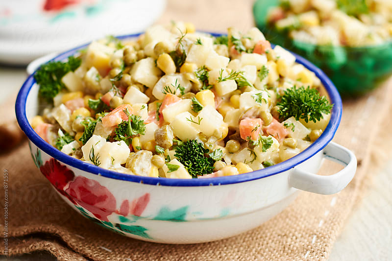 Polish Veggie Salad (salatka jazrynowa) by Harald Walker for Stocksy United
