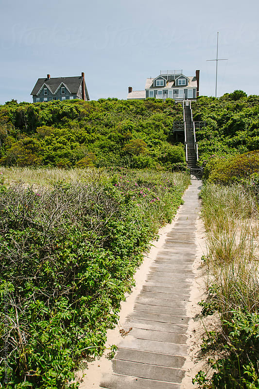 Boardwalk to Beach on Nantucket Island  by Raymond Forbes LLC for Stocksy United