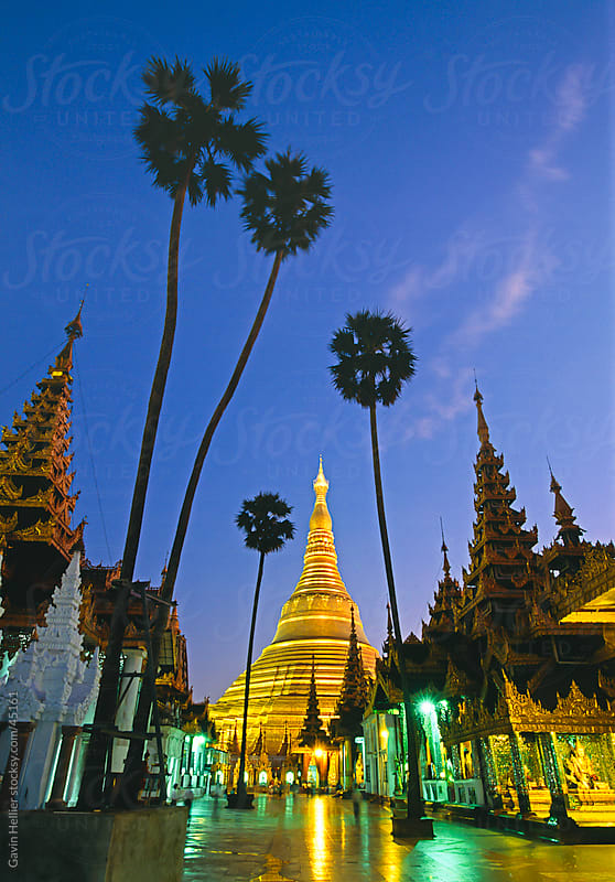 The Shwedagon Pagoda, Yangon (Rangoon), Yangon region, Republic of the Union of Myanmar (Burma), Asia by Gavin Hellier for Stocksy United