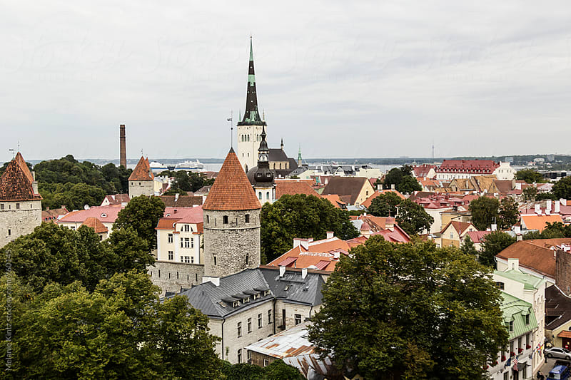 Old Town Tallinn seen from the Cathedral hill by Melanie Kintz for Stocksy United