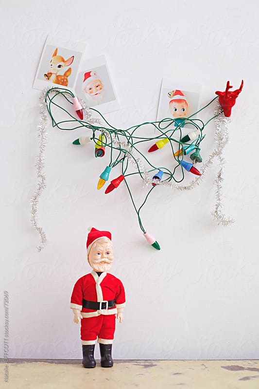 vintage christmas decorations by Natalie JEFFCOTT for Stocksy United