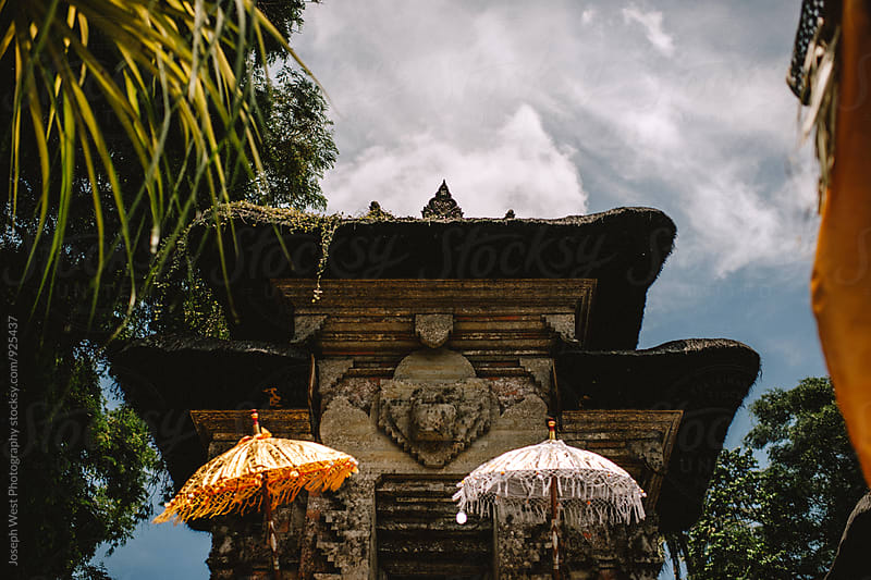 Balinese tiered stone architecture by Joseph West Photography for Stocksy United