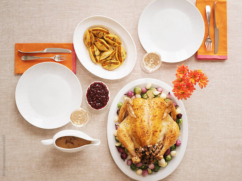 Thanksgiving Dinner for Two by Jill Chen for Stocksy United