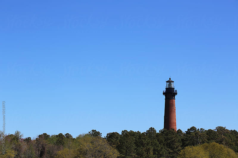 North Carolina Lighthouse On A Clear Day by ALICIA BOCK for Stocksy United