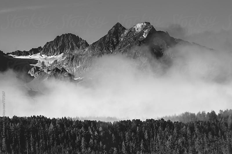 Beautiful mountain landscape in the Austrian Alps by Dimitrije Tanaskovic for Stocksy United