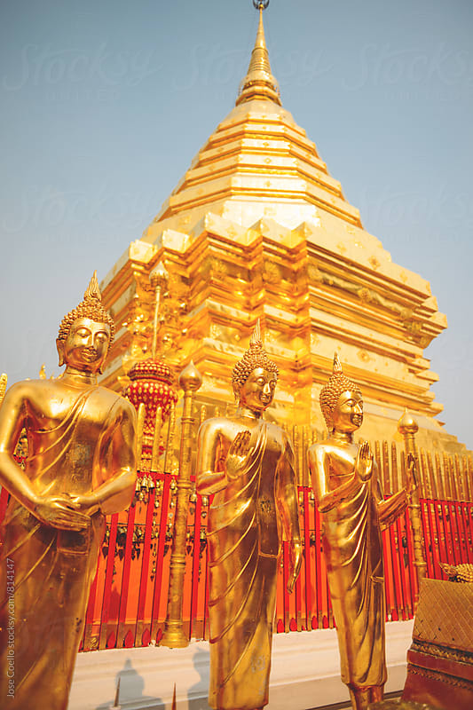 Wat Phra That Doi Suthep by Jose Coello for Stocksy United