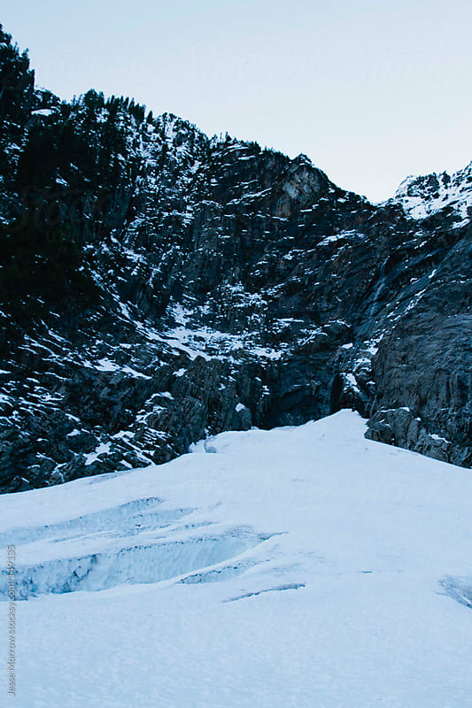 Ice Cave Mountain View by Jesse Morrow for Stocksy United