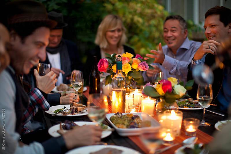 Friends Celebrating by Jill Chen for Stocksy United