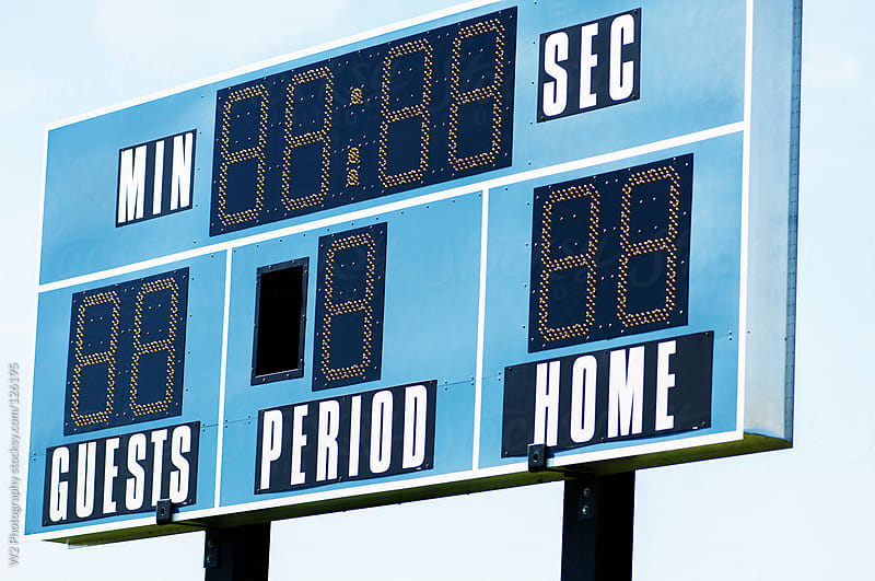 Outdoor scoreboard. by W2 Photography for Stocksy United