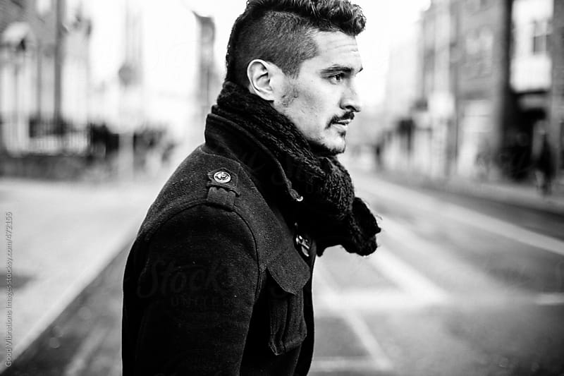 Portrait of an Attractive Man in the city by Good Vibrations Images for Stocksy United