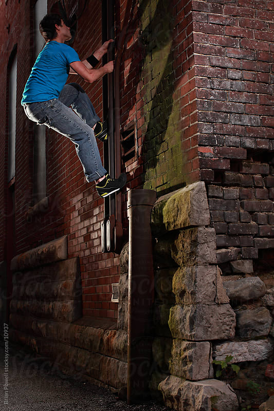 parkour climb by Brian Powell for Stocksy United