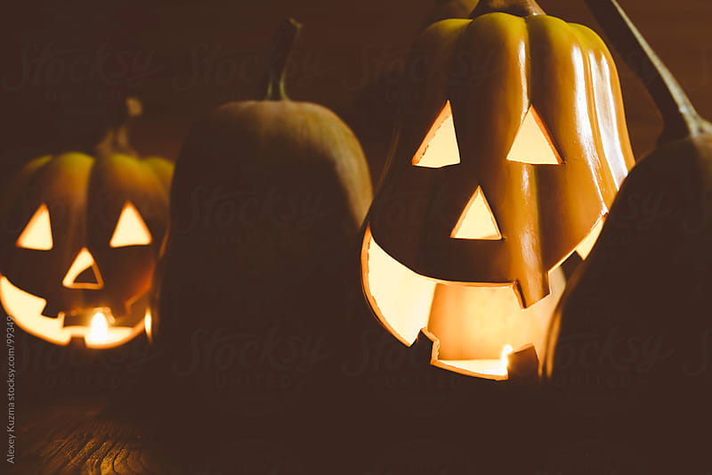 halloween pumpkins by Alexey Kuzma for Stocksy United