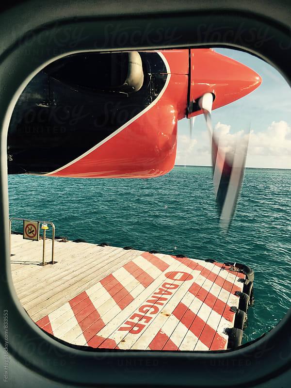Floating platform for a sea plane by Felix Hug for Stocksy United