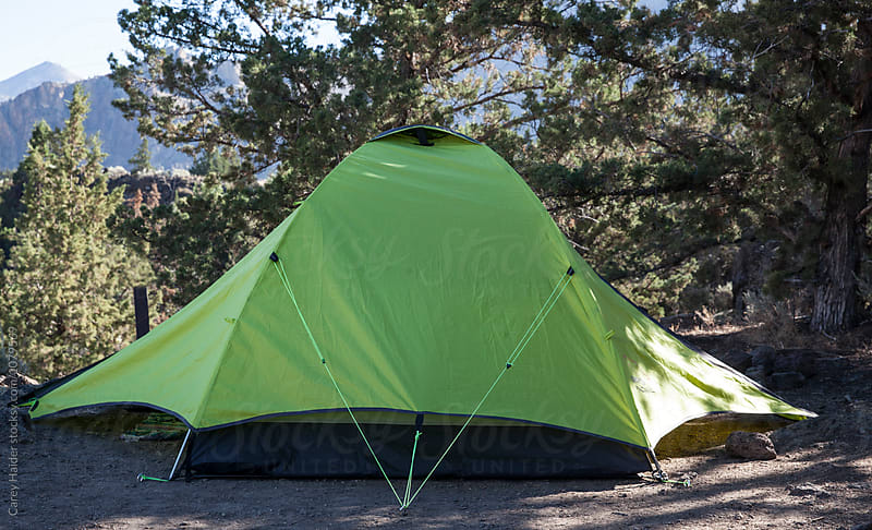 A Green Tent by Carey Haider for Stocksy United