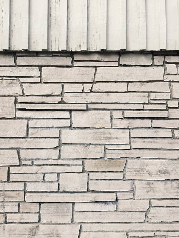 Architectural detail of mid-century brick wall by Paul Edmondson for Stocksy United