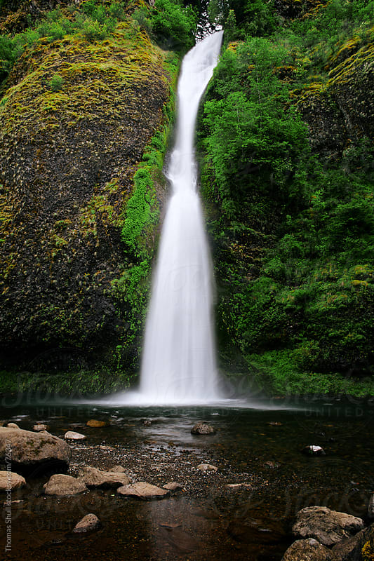 Horsetail Falls, Columbia River Gorge by Thomas Shull for Stocksy United
