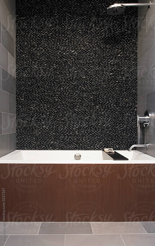 Modern design bathroom by Trinette Reed for Stocksy United
