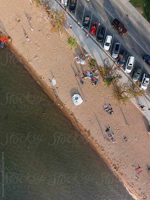 Beach From Overhead by Ronnie Comeau for Stocksy United