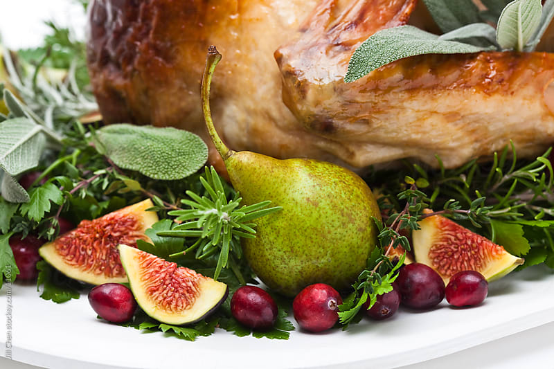 Roast Turkey and Figs by Jill Chen for Stocksy United