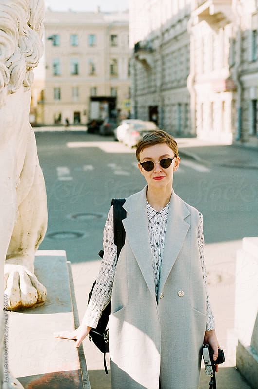 Stylish woman at the street by Lyuba Burakova for Stocksy United