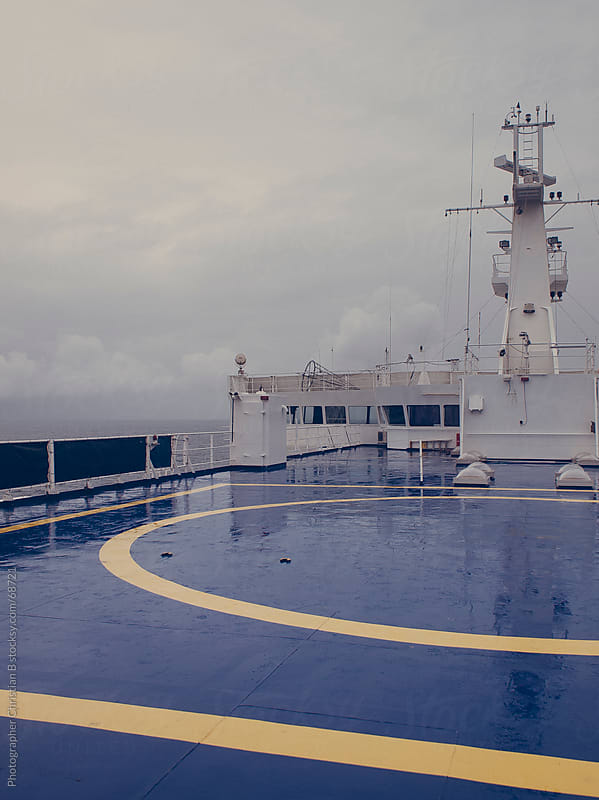 Helipad on a ferry by Photographer Christian B for Stocksy United