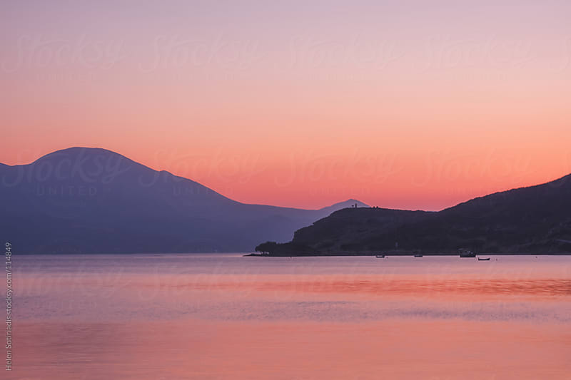 Pink Sunset at Milos Island by Helen Sotiriadis for Stocksy United
