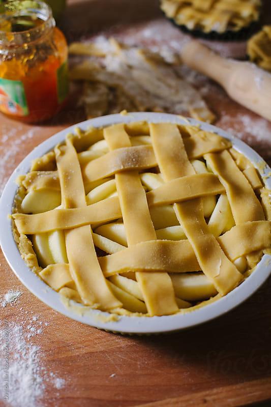 Apple tart by Davide Illini for Stocksy United