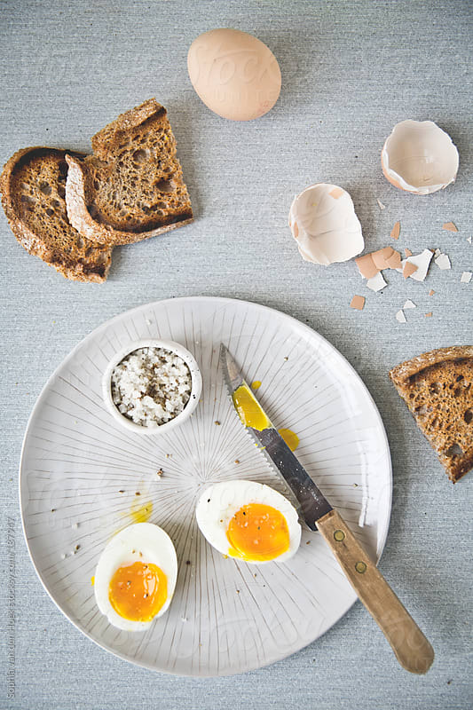 Egg for breakfast by Sophia van den Hoek for Stocksy United