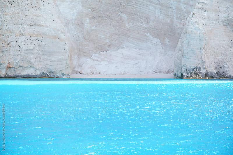 sea and rock in zakynthos greek island by Sonja Lekovic for Stocksy United