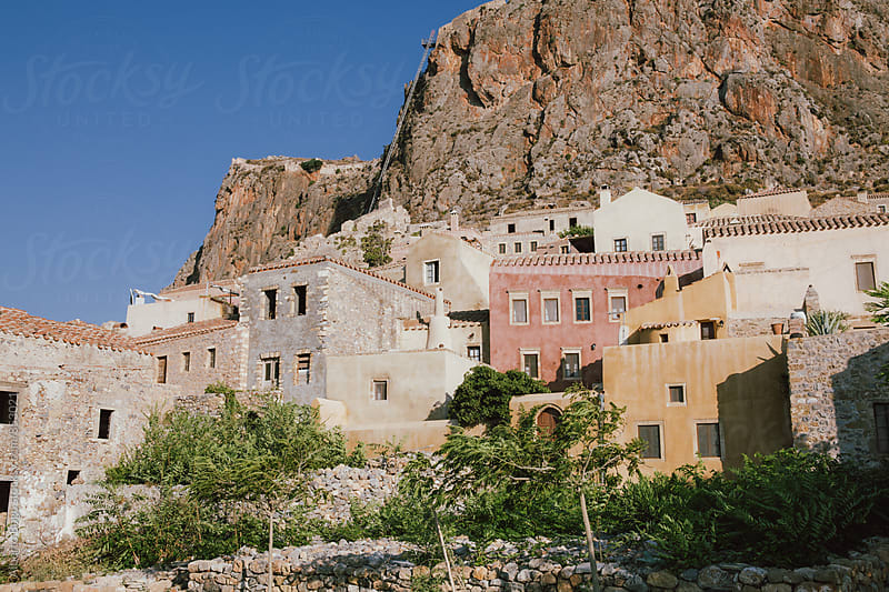 Medieval walled town of Monemvasia, Greece by Alberto Bogo for Stocksy United