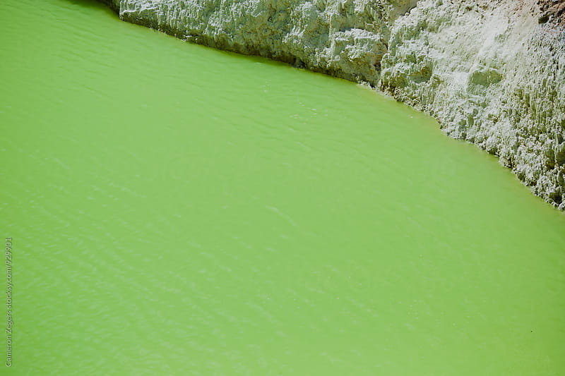Devil's Bath - green geothermal pool by Cameron Zegers for Stocksy United