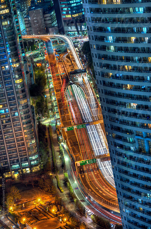 Flying Through Tokyo by Leslie Taylor for Stocksy United