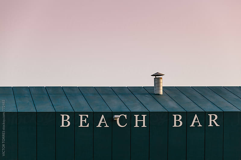 Beach Bar Detail at Sunset by Victor Torres for Stocksy United