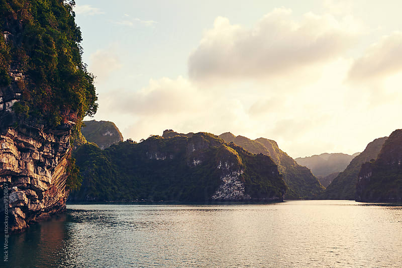Sunset in Ha Long Bay by Nick Wong for Stocksy United