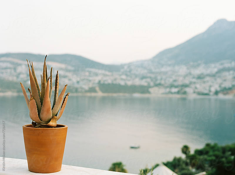 View over the bay at Kalkan, Turkey by Kirstin Mckee for Stocksy United
