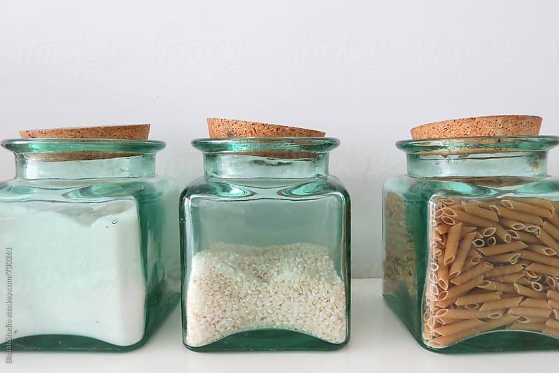 Glass jars with food by Bisual Studio for Stocksy United
