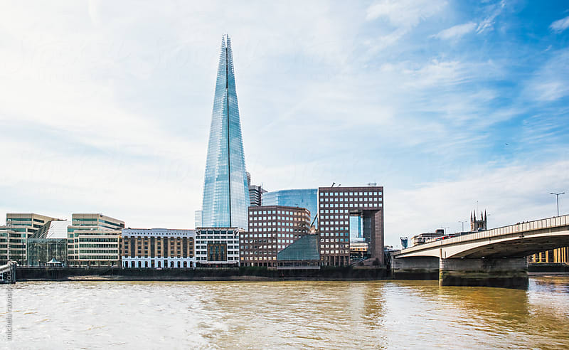 South Bank of the Thames with the Shard by michela ravasio for Stocksy United