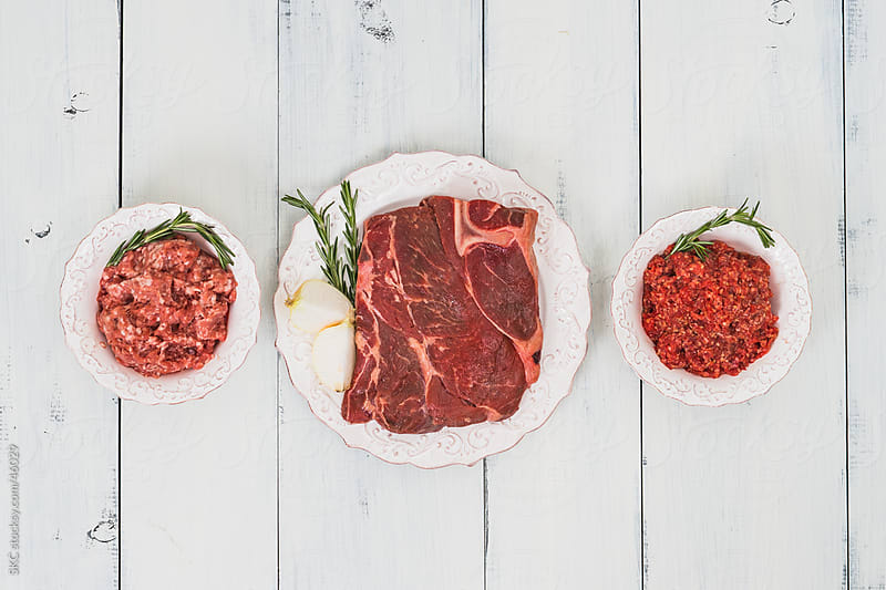 A Selection of Organic Raw Meat by suzanne clements for Stocksy United