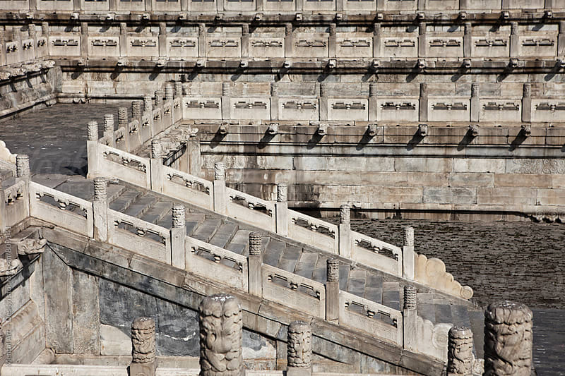 Stairs, Forbidden City, Beijing, China  by Mental Art + Design for Stocksy United
