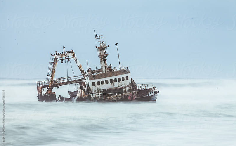 Skeleton Coast Ship Wreck by Micky Wiswedel for Stocksy United