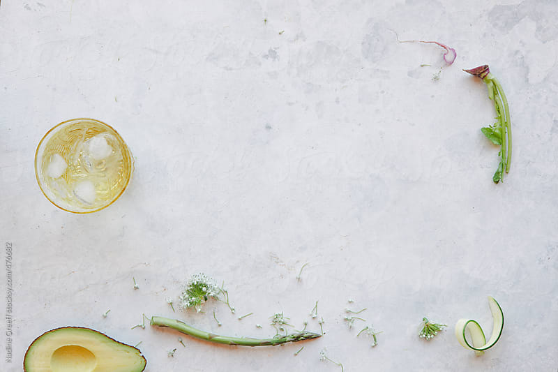 Background for with food ingredients by Nadine Greeff for Stocksy United