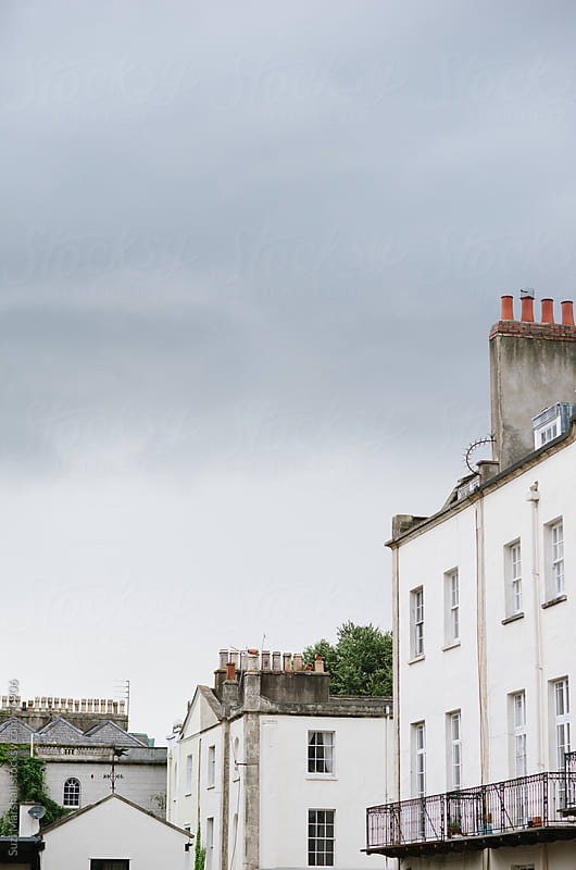 Rooftops and chimney stacks by Suzi Marshall for Stocksy United