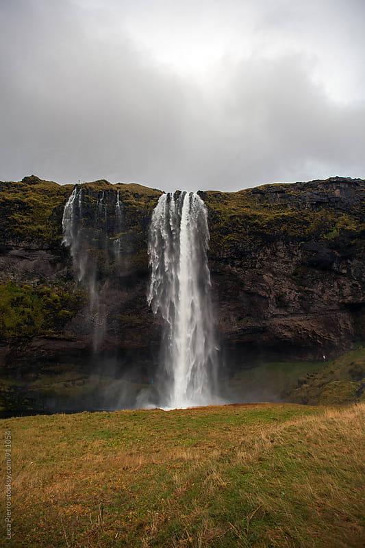 Seljalandsfoss waterfall by Luca Pierro for Stocksy United