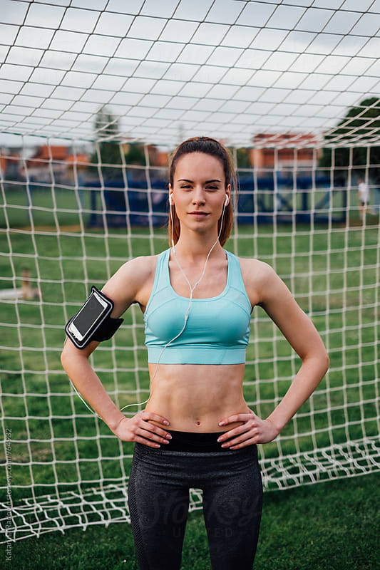 Portrait of Beautiful Sporty Woman  by Katarina Radovic for Stocksy United