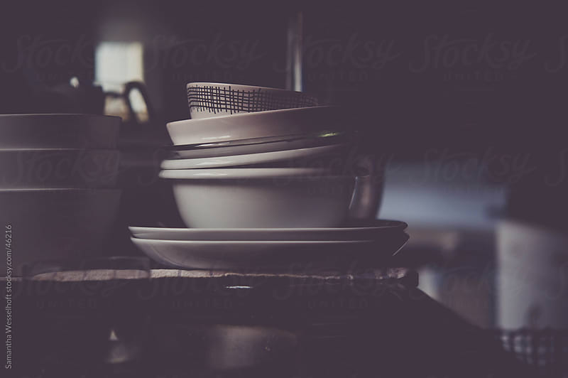 clean dishes by Samantha Wesselhoft for Stocksy United